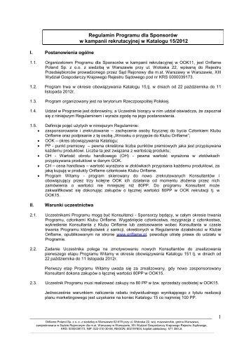 Regulamin Promocji - Oriflame