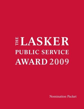 2009 Public service Interactive.indd - The Lasker Foundation