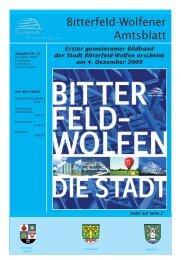 Amtsblatt 22-09 erschienen am 04.12.2009.pdf - Stadt Bitterfeld ...