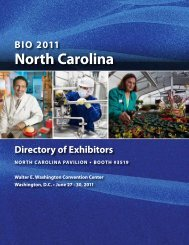 Company Portfolio - North Carolina Biotechnology Center