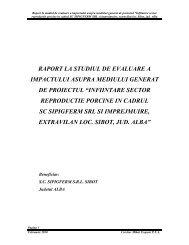 raport la studiul de evaluare a - Agentia pentru Protectia Mediului