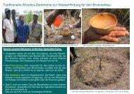 Traditionelle Woodoo-Zeremonie zur Wasserfindung für den ...