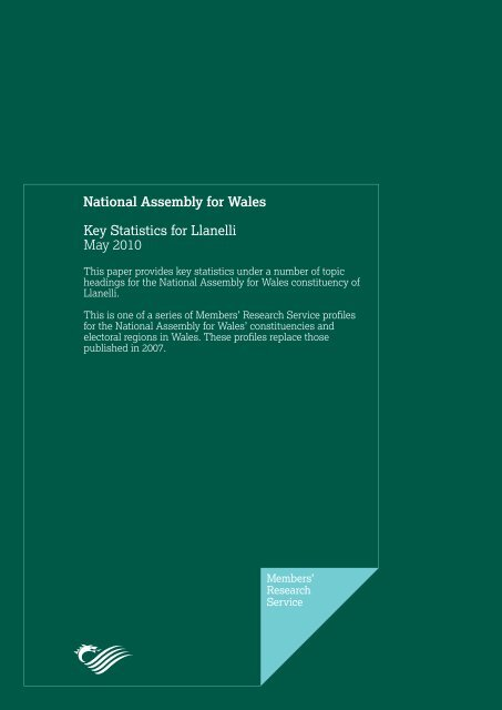Key Statistics for Llanelli - National Assembly for Wales