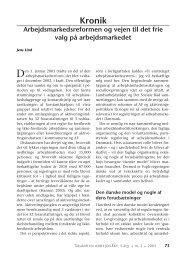 Arbejdsmarkedsreformen og vejen til det frie valg ... - Nyt om Arbejdsliv