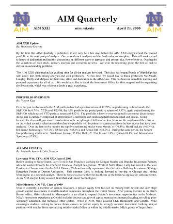Newsletter Q2 - AIM