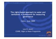 The rights-based approach to water and sanitation - Governance ...