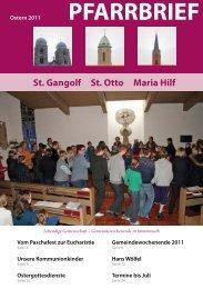 Pfarrbrief Oster 2011 - St. Gangolf