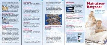 Matratzen Ratgeber - Kostenlos im Uiversal Online Shop downloaden