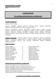 compte rendu du conseil municipal du 23 avril 2012 - Deuil-la-Barre