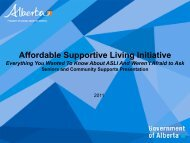 Affordable Supportive Living Initiative - Alberta Continuing Care ...