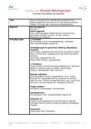 Titel Klinisk retningslinje for identificering af faldrisiko og ...