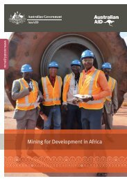 Mining for Development in Africa - Australia-Africa Partnerships Facility