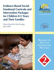 Evidence-Based Social- Emotional Curricula and Intervention ...