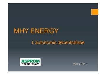 L'autonomie decentralisée - Asprom