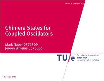 Chimera States for Coupled Oscillators