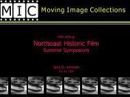 Moving Image Collections - Northeast Historic Film