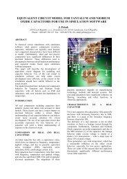 equivalent circuit model for tantalum and niobium oxide ... - AVX