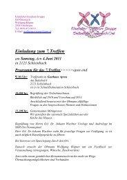 zum detaillierten Programm - Klinefelter-Syndrom Selbsthilfegruppe