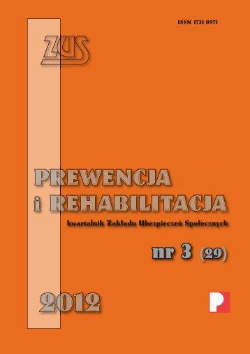 Prewencja i Rehabilitacja 3/2012 - Główna Strona ZUS