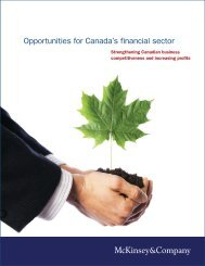 Opportunities for Canada's financial sector - McKinsey & Company