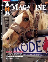 4918 Hmag Spg11.indd - Houston Livestock Show and Rodeo