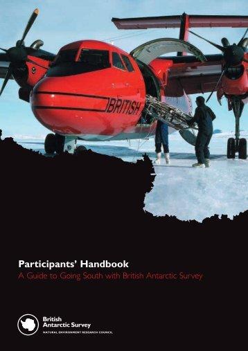Participants' Handbook - British Antarctic Survey