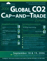 Global Co2 September 18 & 19, 2006 - ALM Events