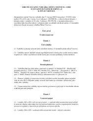 Vyhláška 1/2002 o závazných částech změny č.8 k ÚPN SÚ Vizovice