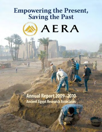 Download a PDF of our 2010 Annual Report - Ancient Egypt ...