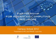 Campus School 2012 - Prace Training Portal
