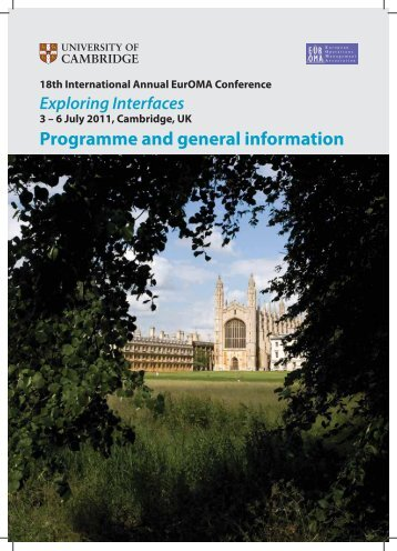 Programme and general information - EurOMA 2011