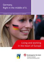 Germany - right in the middle of it. Living - Bundesagentur für Arbeit