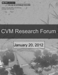 research forum proceedings2011.pub - North Carolina State ...