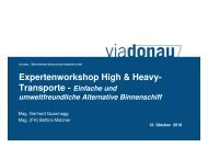 1. Experten Workshop - Schifffahrt