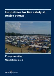 Guidelines for fire safety at major events