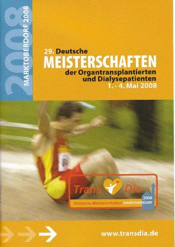 29. Deutsche Meisterschaften der Organtransplantierten und ...