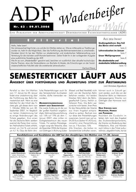 ADF Wadenbeißer - ADF - Arbeitsgemeinschaft Demokratischer ...
