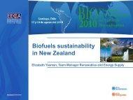 Biofuels sustainability in New Zealand