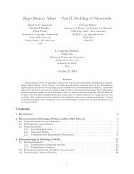 Part II: Modeling of Polycrystals - Institute for Scientific Computation ...