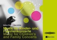Musik für Kinder- und Familienkonzerte Music for Children's and ...