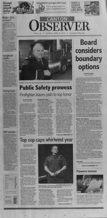 Canton Observer for April 8, 2012 - Canton Public Library