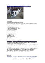 Continuous paper perforating folding machine - Rewinding machines