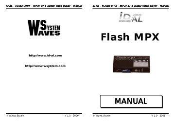Flash MPX Manual GB - Visono Media AB