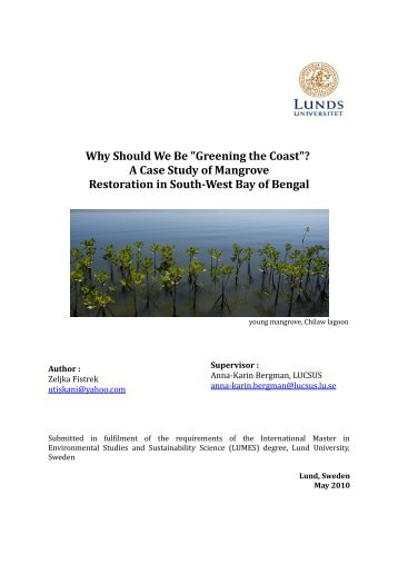 "Why Should We Be ""Greening the Coast""? A Case Study of ... - lumes"