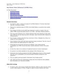 Key Points: Avian Influenza A (H7N9) Virus In This Document: