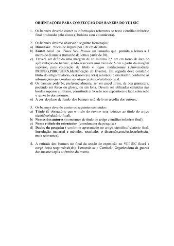 VIII SIC - UERN