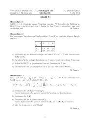 Blatt 8 - Institut für Mathematik - Universität Paderborn