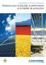Solutions pour la sécurité, la performance et la ... - Socomec Group