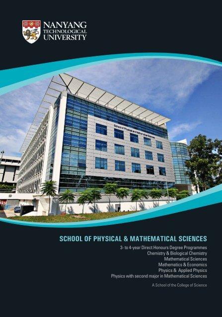 Curriculum Overview - Spms - Nanyang Technological University