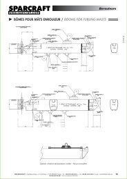 BÔMES POUR MÂTS ENROULEUR / BOOMS FOR ... - Sparcraft